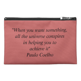 Travel Accessory Bag with Paulo Coelho Quote