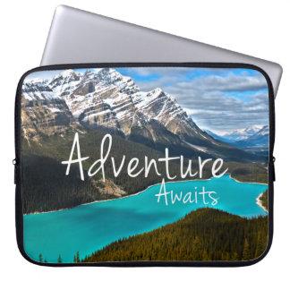 Travel Adventure Awaits Photography Computer Sleeve