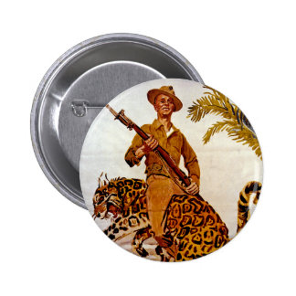 Travel? Adventure? Join the Marines! 2 Inch Round Button