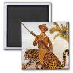 Travel? Adventure? Join the Marines! 2 Inch Square Magnet