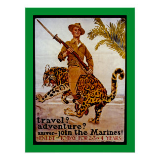 Travel Adventure Join the Marines Posters