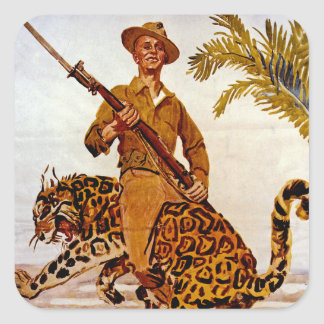 Travel? Adventure? Join the Marines! Square Sticker