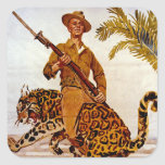 Travel? Adventure? Join the Marines! Square Stickers