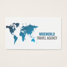 Travel Agency, Agent, Vacation Business Card at Zazzle