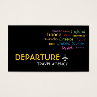 Travel Agency, Agent, Vacation Business Card