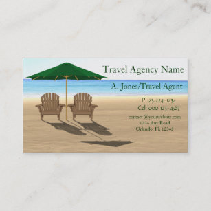 Travel agency business cards templates zazzle travel agency beach business card colourmoves