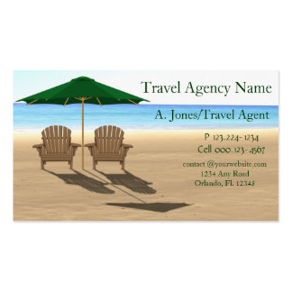 Travel Agency Beach Double-Sided Standard Business Cards (Pack Of 100)