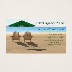 Travel Agency Beach Business Card at Zazzle