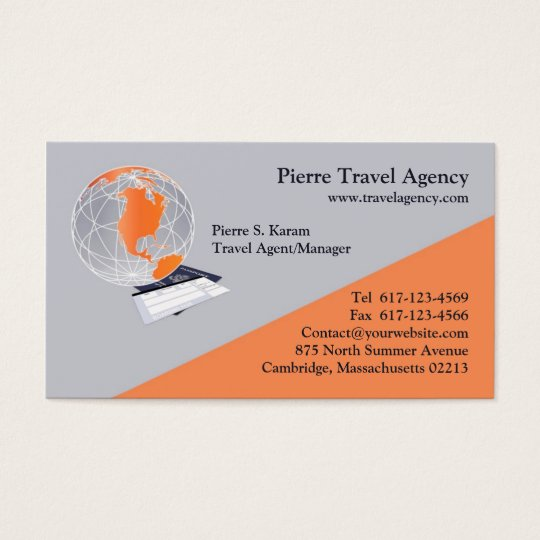 Travel Agency Business Card | Zazzle.c