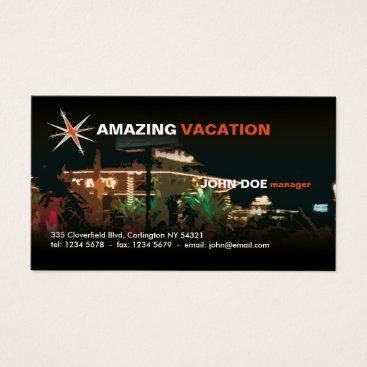 Beach Themed Travel Agency Business Card