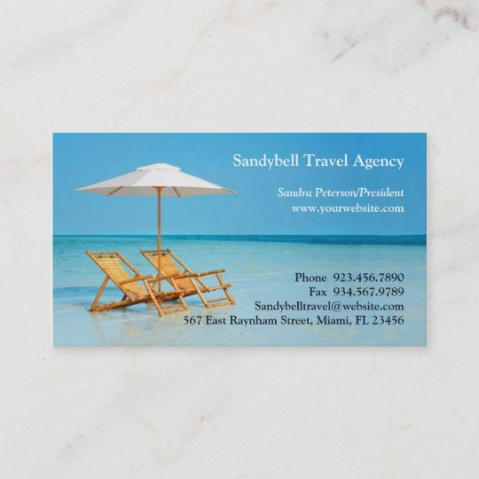 Travel agency business card zazzle travel agency business card colourmoves
