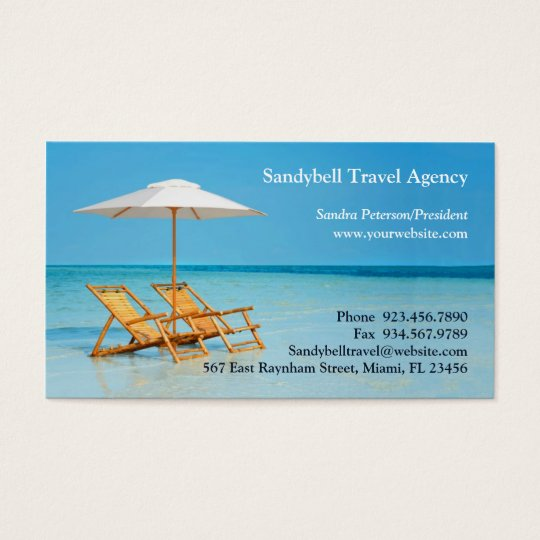 Travel agency business card zazzlecom for Travel agent business card