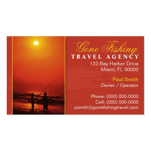 Travel agency business card zazzle for Travel agency business cards