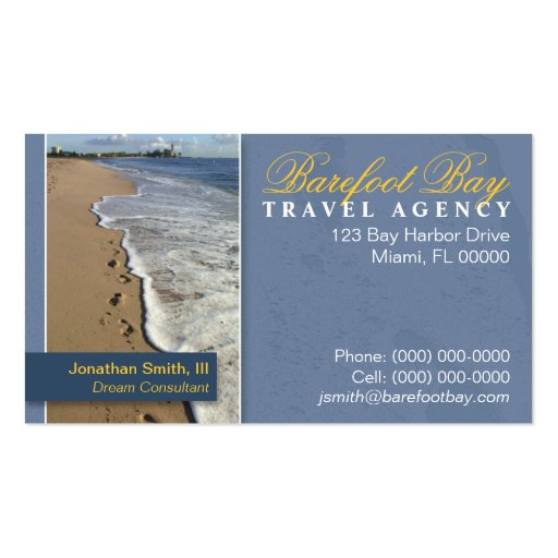 Travel business card templates page19 bizcardstudio for Travel agent business card