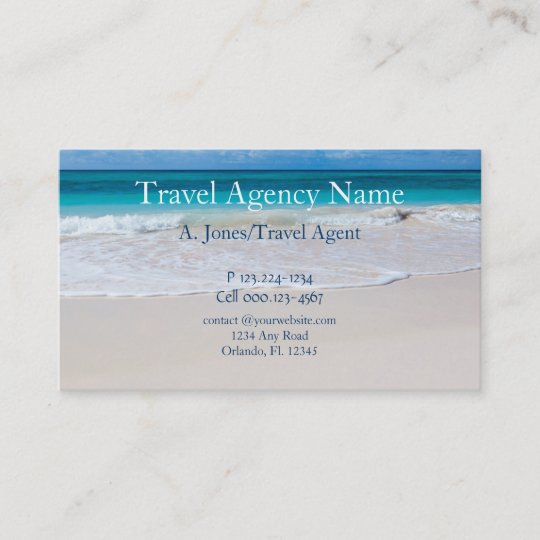 Travel agency business card zazzle travel agency business card reheart Choice Image