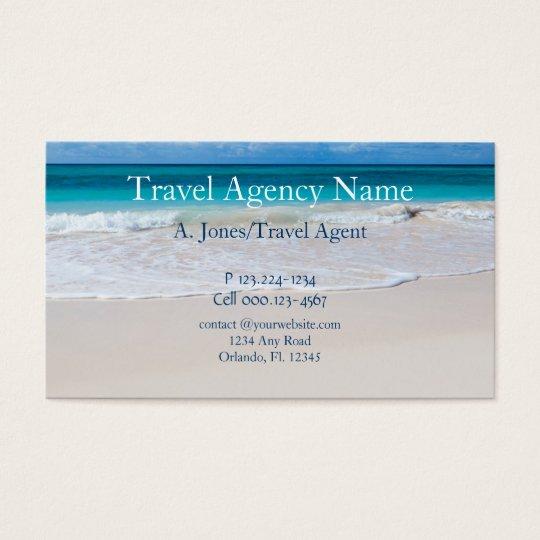 travel agency business card zazzle com