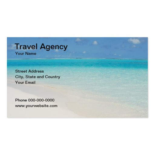 Travel agency business card business card templates zazzle for Travel agent business card