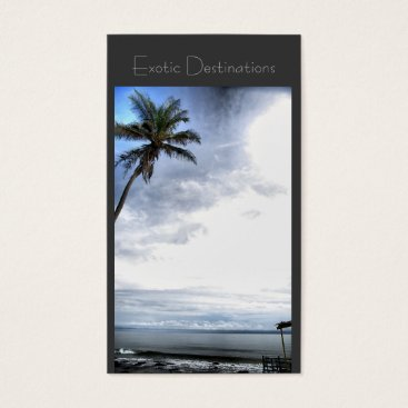 Beach Themed Travel agency business card exotic tropical
