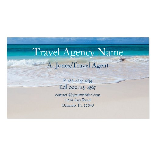 Travel agency double sided standard business cards pack for Travel agent business card