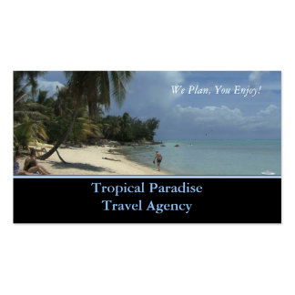 Travel Agency Double-Sided Standard Business Cards (Pack Of 100)