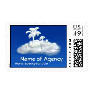 travel agency postage stamp