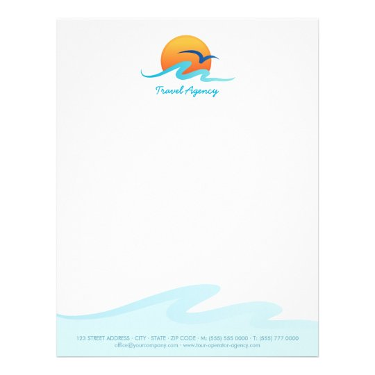 Travel agency tourism tour operator letterhead zazzle travel agency tourism tour operator letterhead spiritdancerdesigns Choice Image