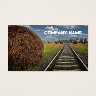 Travel Agency Train Tracks Business Card