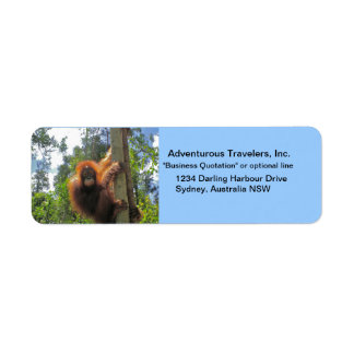 Travel Agent Adventure Tours Label