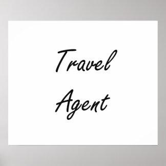 Travel Agent Artistic Job Design Poster