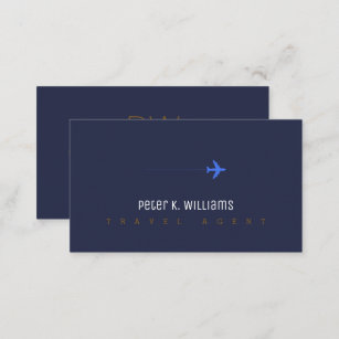Travel business cards 5100 travel business card templates travel agent blue business card with an airplane colourmoves