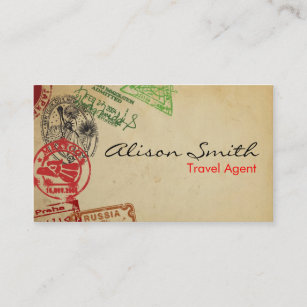 Travel agency business cards templates zazzle travel agent business card colourmoves