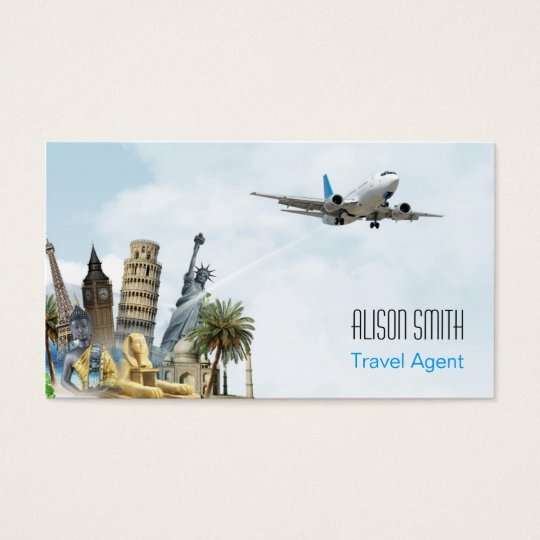 Travel agent business card zazzle travel agent business card colourmoves Image collections