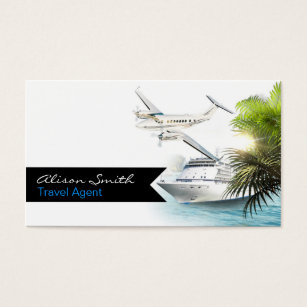 Travel agent business cards templates zazzle travel agent business card colourmoves