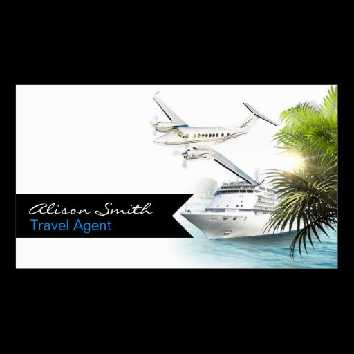 travel agent double sided standard business cards pack of