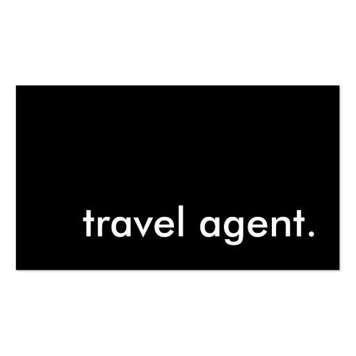 travel agent. business card templates