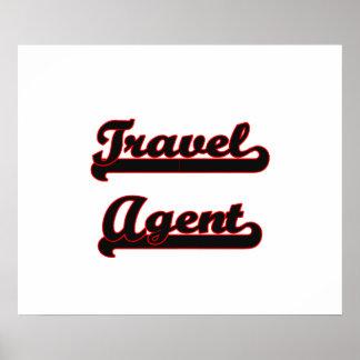 Travel Agent Classic Job Design Poster