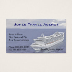 Travel Agent Cruise Ship Agency Business Card at Zazzle