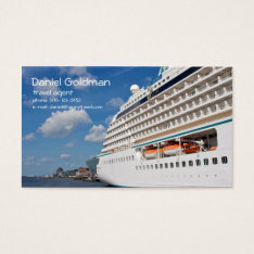 Travel Agent Cruise Ship Business Card at Zazzle
