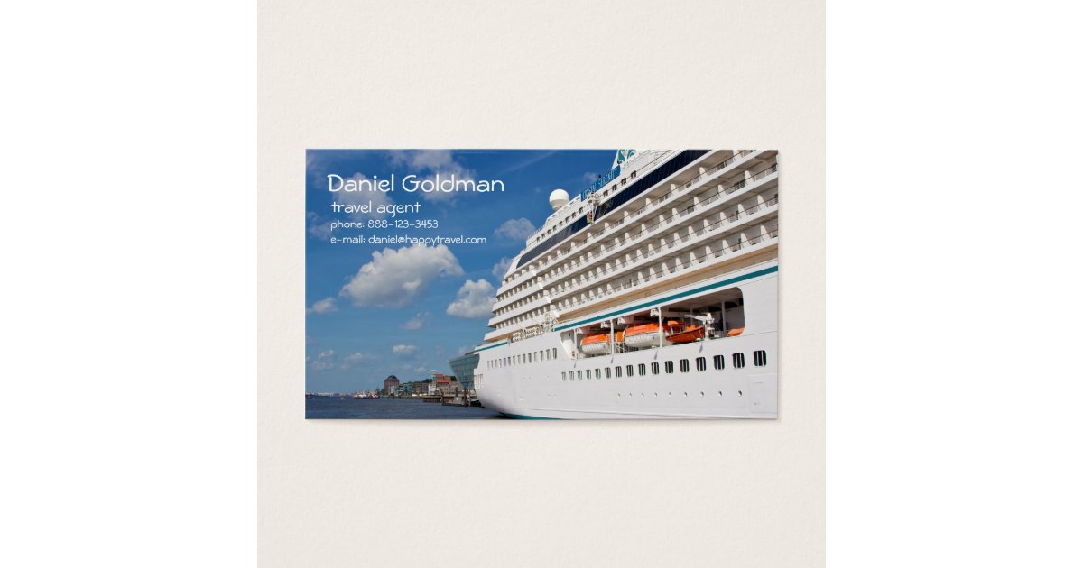 Travel Agent Cruise Ship Business Card | Zazzle.com