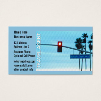 Travel Agent | Pacific Coast Highway Sign Business Card