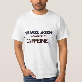 Travel Agent Powered by caffeine T-shirt