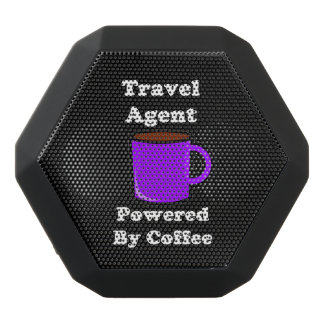"""Travel Agent"" Powered by Coffee Black Bluetooth Speaker"