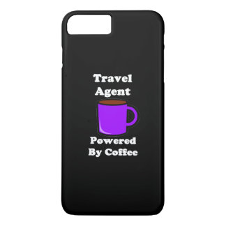 """""""Travel Agent"""" Powered by Coffee iPhone 7 Plus Case"""