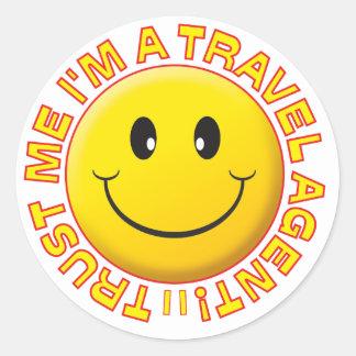 Travel Agent Trust Me Smiley Sticker