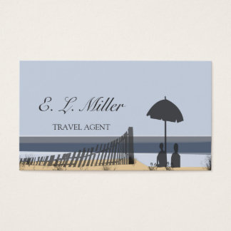 Travel Agent Vacations Tropical Beach Business Card
