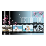 Travel Agent Wedding Film Photo Business Card Blue