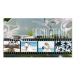 Travel Agent Wedding Plumeria Photo Business Card
