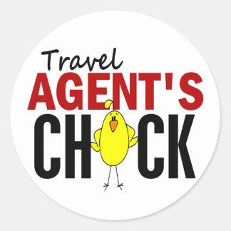 Travel Agent's Chick Round Stickers