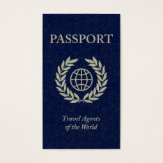 Travel Agents Passport Business Card at Zazzle