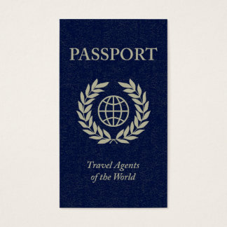 travel agents passport business card